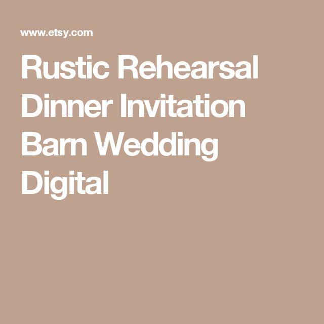 Rustic Rehearsal Dinner Invitation  Barn Wedding Digital