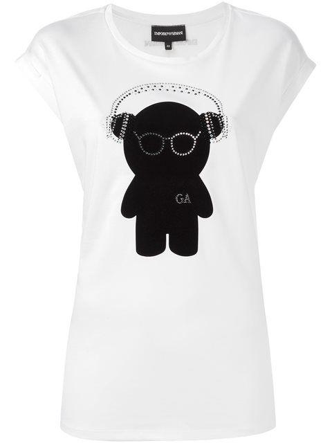 Купить Emporio Armani футболка с принтом медведя в Tessabit from the world's best independent boutiques at farfetch.com. 400 бутиков, 1 адрес. .