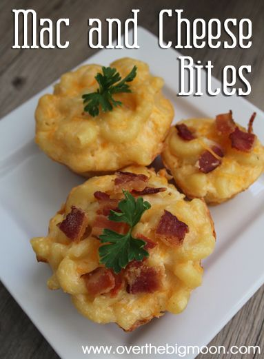 Mac & Cheese Bites - so creamy and delicious! Adults and Kids love them! Would be the perfect appetizer or party food!