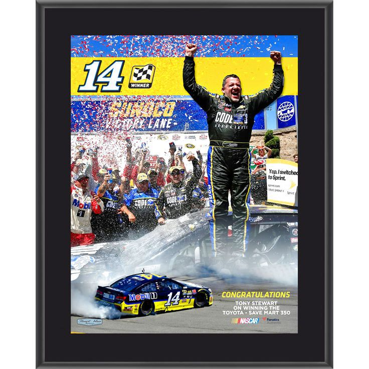 "Tony Stewart Fanatics Authentic 2016 Toyota Save Mart - 350 Race Winner Sublimated 10.5"" x 13"" Plaque - $23.99"