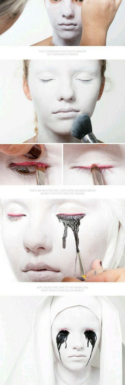 Image via We Heart It #black #face #Halloween #makeup #white
