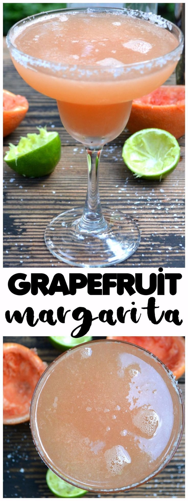 The Perfect Grapefruit Margarita.  We're going back to basics here.  A grapefruit, a lime, tequila and perhaps a drizzle of agave.  Fresh & simple ingredients are all you need for Margarita perfection | www.craftycookingmama.com