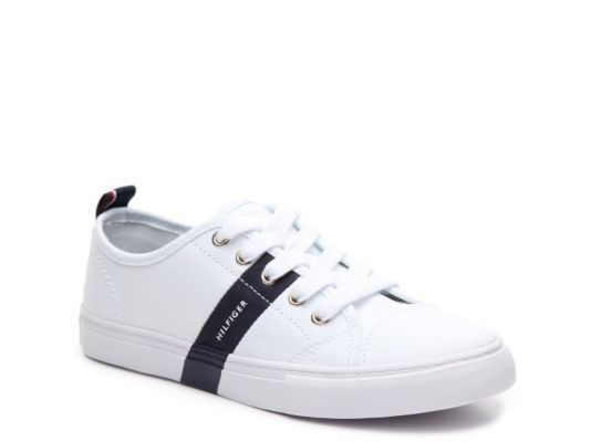 Womens Tommy Hilfiger Lainie2 Sneakers White/Marine/Signature QAY47868