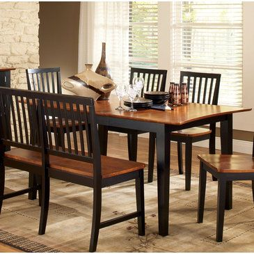 Gather All Around The Table Branson Dining With 12 Inch Extension Leaf 7 Piece