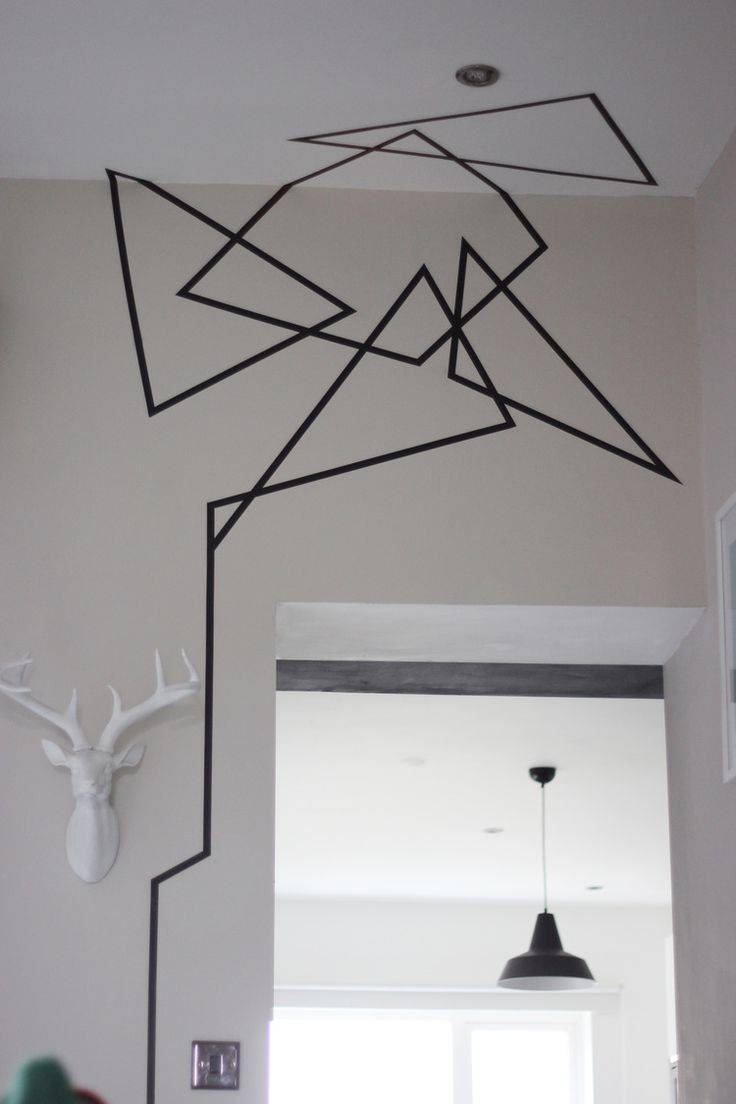 25 best ideas about tape wall art on pinterest tape art washi tape wall and tape wall - Wall decoration design ...