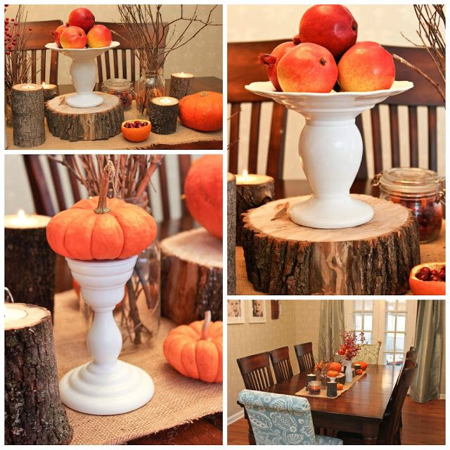 Thanksgiving table decor diy oh hello fall pinterest Thanksgiving table decorations homemade