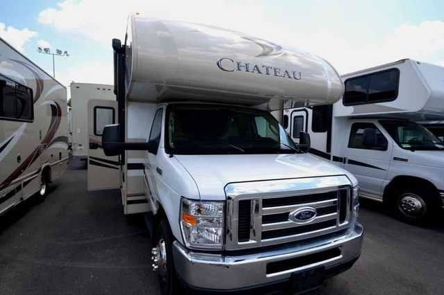 2015 New Thor Motor Coach Chateau 29G Class C in Oklahoma OK.Recreational Vehicle, rv, 2015 Thor Motor Coach Chateau 29G, Come and see this 2015 Thor Chateau 29G and discover what luxury means...GVWR 14,500 lbs.Features include:Outdoor kitchen with refrigerator8,000 trailer hitchThor Motor Coach HD-MAX exterior with graphics package & premium durable gel-coat sidewallsAutomatic hydraulic leveling jacksOutside showerHeated and remote exterior mirrors with integrated Side view cameras…