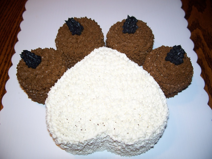 Paw Print Cake - This cake would be a feast for several of your canine friends. Available in 4 great flavors.  Yum!
