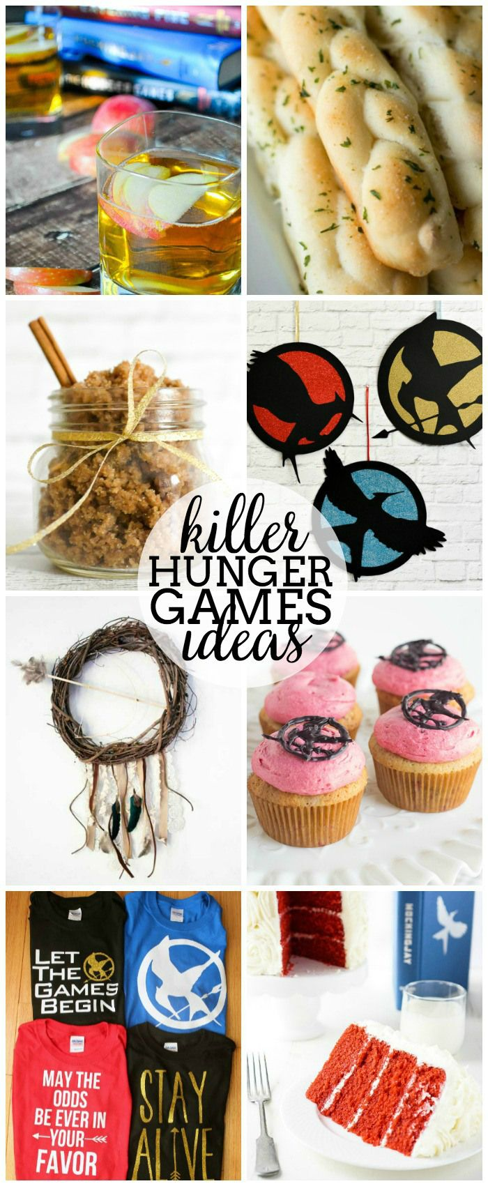 Do you love The Hunger Games, you'll love these amazing recipes and crafts inspired by the series! They're perfect for throwing a party and some are great just because like that Girl on Fireball Cocktail or that Nightlock Berry Cupcakes!