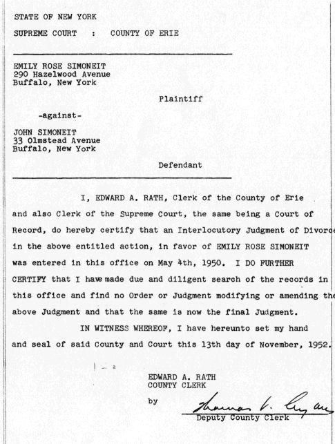45 b sta bilderna om Divorce Papers p Pinterest – Sample of Divorce Decree