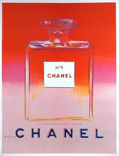 Chanel No. 5 (red/pink) by Andy Warhol (1997)   Shop original vintage posters online: www.internationalposter.com