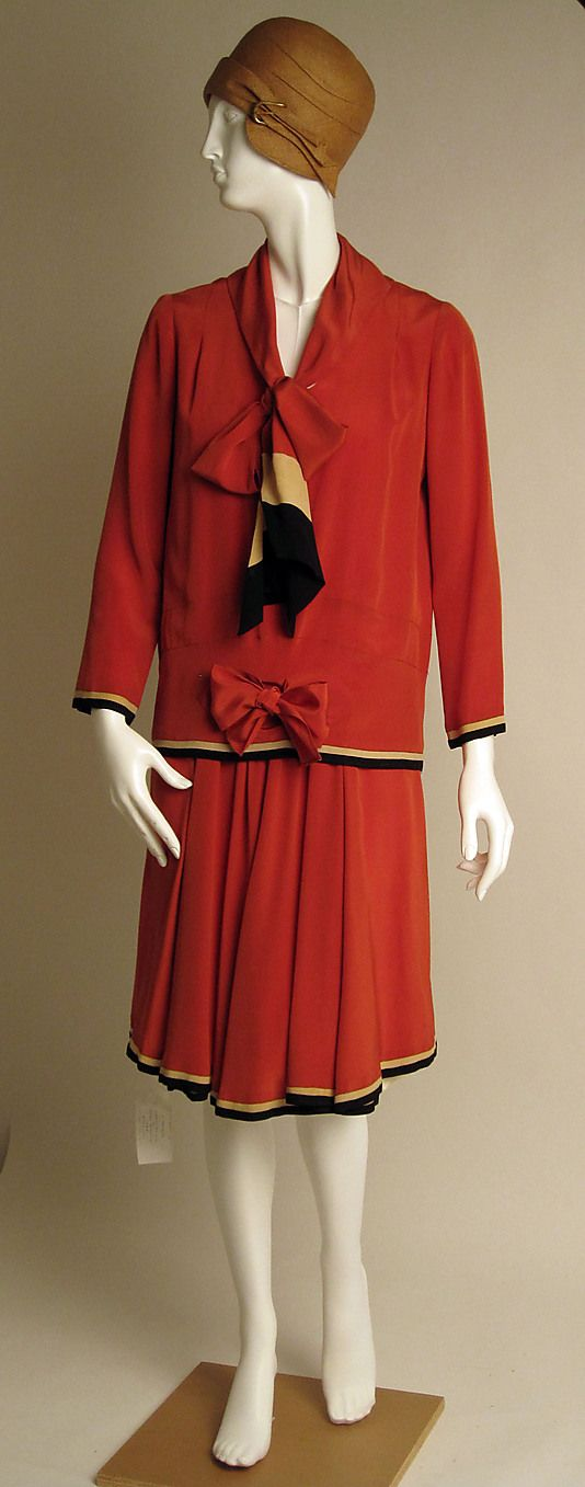 Dress | Nellie Harrington | American | 1928 | silk | Metropolitan Museum of Art | Accession Number: C.I.56.33.13a, b