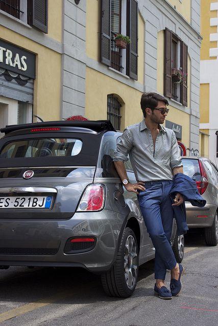 The new #Fiat #500GQ during Men's Fashion Week Milan 2013