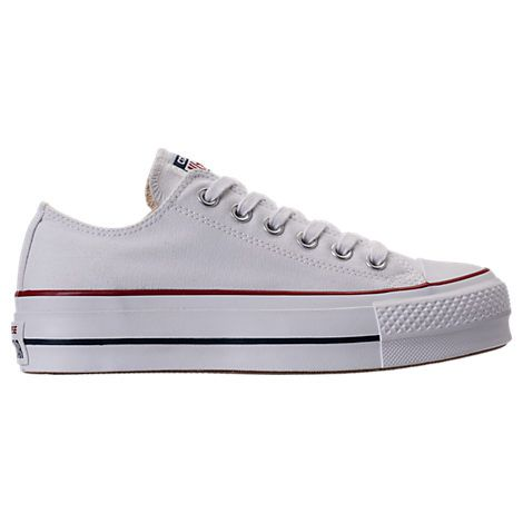 CONVERSE WOMEN'S CHUCK TAYLOR ALL STAR LIFT LOW CASUAL SHOES, WHITE. #converse #shoes #
