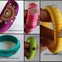 Multitude patterns of thread wrapped bracelets to adorn your hand.