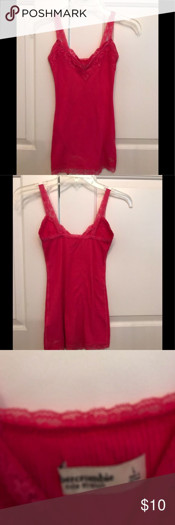 Abercrombie girl's cami in hot pink Camisole with lace, great for layering Shirts & Tops Camisoles