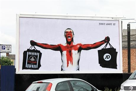 """Brandalism: parodies a Nike ad featuring Wayne Rooney """"challenge the destructive impacts of the advertising industry""""."""