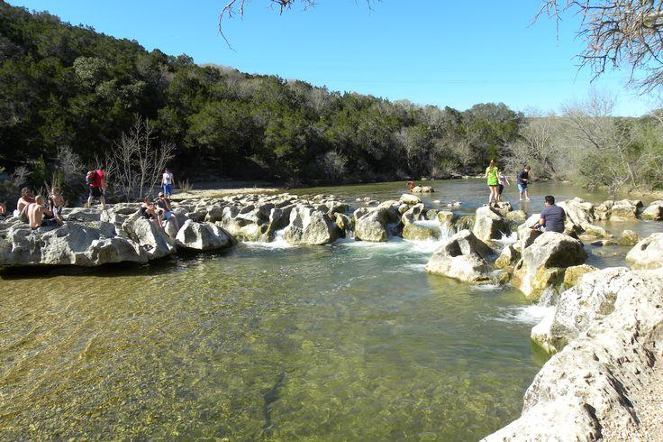 Barton Creek Greenbelt Hiking Trail Austin TX -  Twin Falls on South Mopac: one of my favorite places