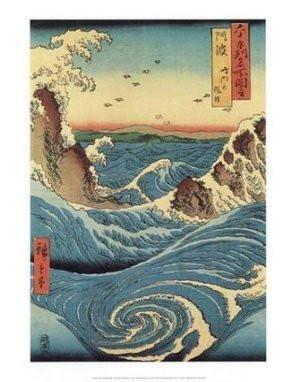 Utagawa Hiroshige, Rapids, Movie posters, Sports posters, Music Posters, Dorm Posters, Cheap Posters, Discount Posters, Cool Posters, Wholesale Posters