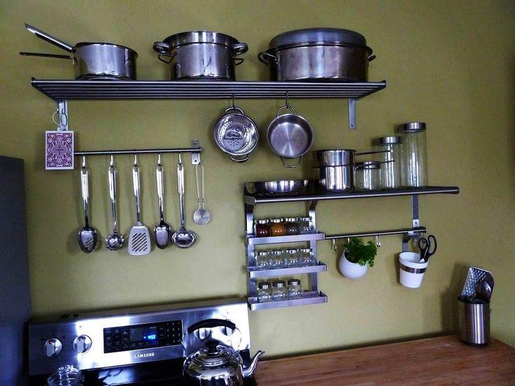 Best 25+ Stainless steel kitchen shelves ideas on