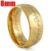 O Um Anel de Ouro de Tungstênio Um Anel do Poder o Senhor dos anel 8 MM  Mulheres e Homens