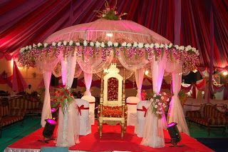 Hindu Wedding Mandaps - Super Gorgeous! Would do it in different colours but love the design