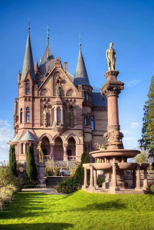"""Schloss Drachenburg Castle is a private in Königswinter, Germany constructed in the late 19th century. It was completed in only two years (1882–84) on the Drach..."""