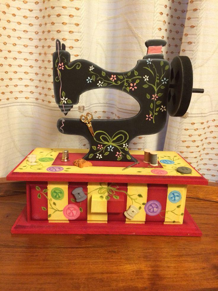 Costurero Maquina de coser. Madera tipo Country | Lovin