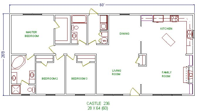 24 foot wide ranch house floor plans google search for Wide ranch house plans