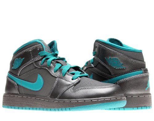 Nike Air Jordan 1 Mid (GG) Girls Basketball Shoes 555112-027 - http
