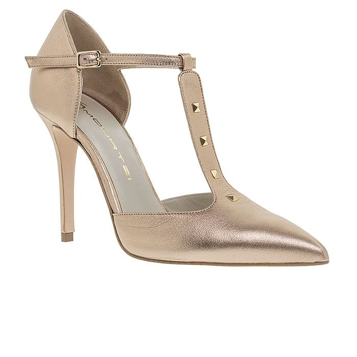 100455-BRONZE LEATHER www.mourtzi.com #pumps #heels #mourtzi #metallics