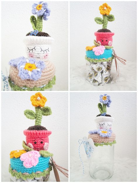 mingle-mangle-crochet: Bloempotjes