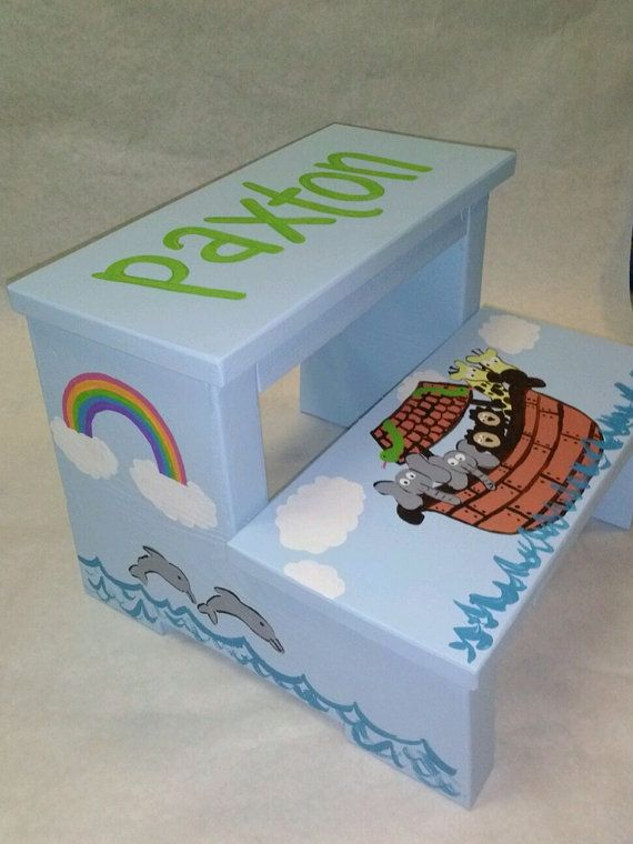 step stool noahu0027s ark by wouldknots on etsy