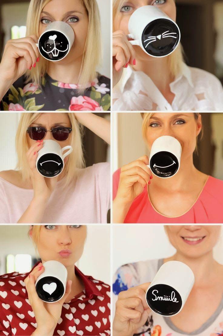 DIY Mood Mugs - how clever!