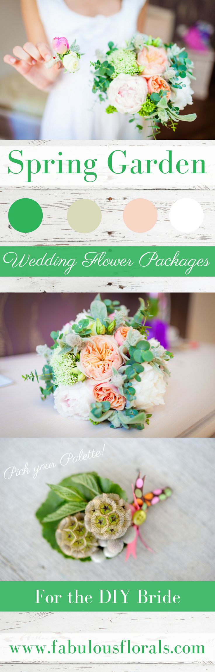 Wedding Trends! Spring Wedding Flowers. DIY Wedding Flower Packages! Buy Easy Complete DIY bouquet, Boutonniere & Centerpiece Flower packages online! How to make a wedding bouquet DIY wedding bouquet tutorials and instructions. #weddingflowerpackages #weddingflowers #weddingtrends