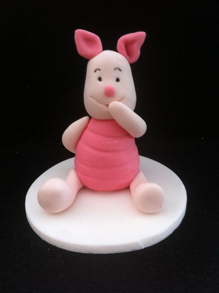 Piglet cake topper.