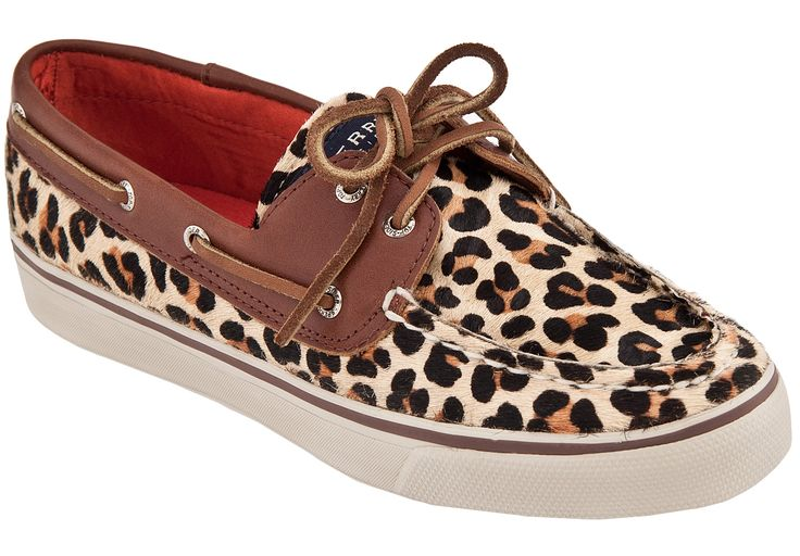 Womens Sperry Top-Sider Bahama 2 Eye Leopard Boat Shoe... Been wanting these