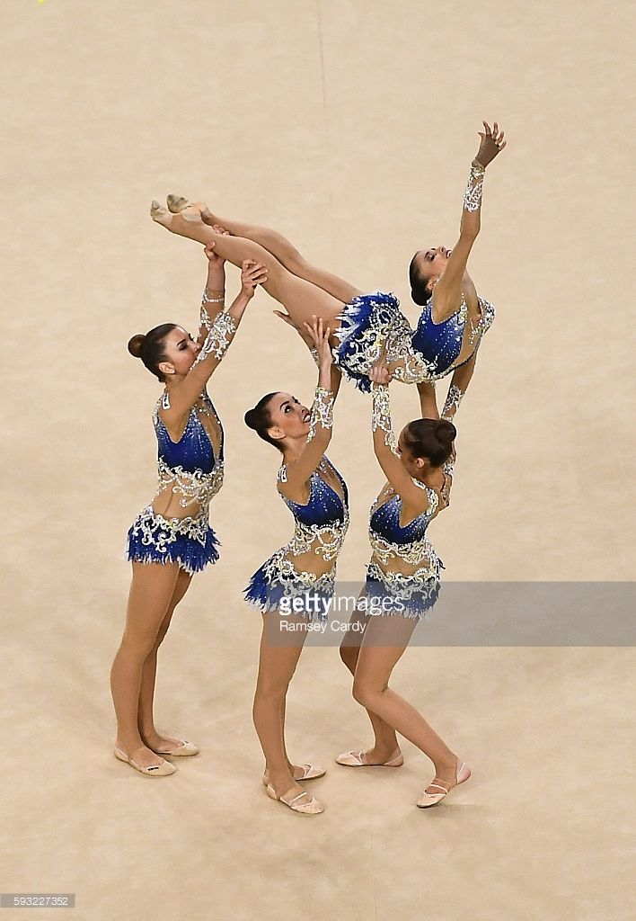 Rio , Brazil - 21 August 2016; The Italy team competing during the Rhythmic…