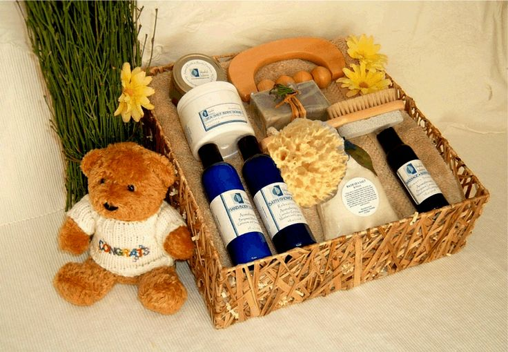 New Mother's Retreat Spa Gift Basket: What better way to show the new mom how much you really care about her than to give the gift of a well deserved spa retreat. Let her bask in a pampering bath, filled with therapeutic sea salts and essential oils which will help her to relax and feel wonderfully at peace. This heavenly assortment of the finest products will leave her body revived and her soul renewed.  http://www.blissfulbalance.com/new-mothers-retreat-spa-gift-basket/