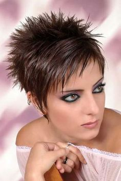 Astonishing 1000 Ideas About Short Spiky Hairstyles On Pinterest Haircuts Short Hairstyles For Black Women Fulllsitofus