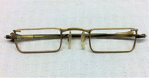 1960s Vintage Unisex Rectangular Granny Glasses Frames