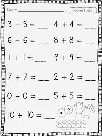 Printables Doubles Facts Worksheets 2nd Grade 1000 ideas about doubles facts on pinterest addition 100 chart and games