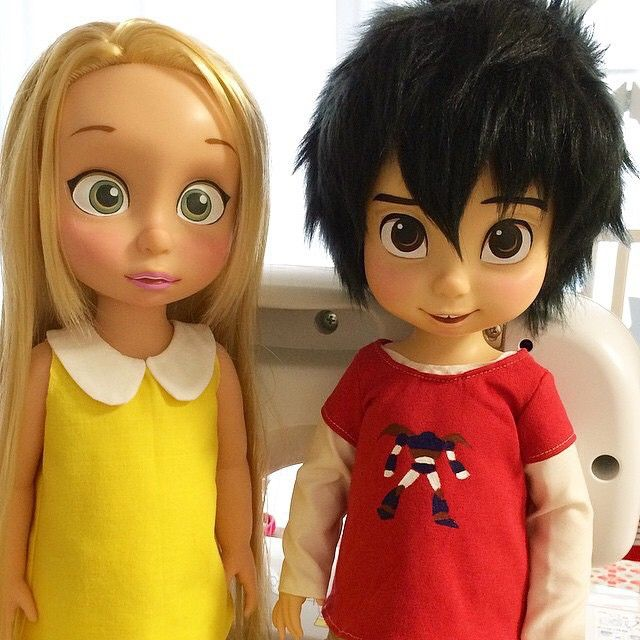 """""""THESE ARE FANMADE BUT LOOK"""" - I thought it was Hiro and Rapunzel. MAN!! Honey Lemon any Rapunzel look alike."""