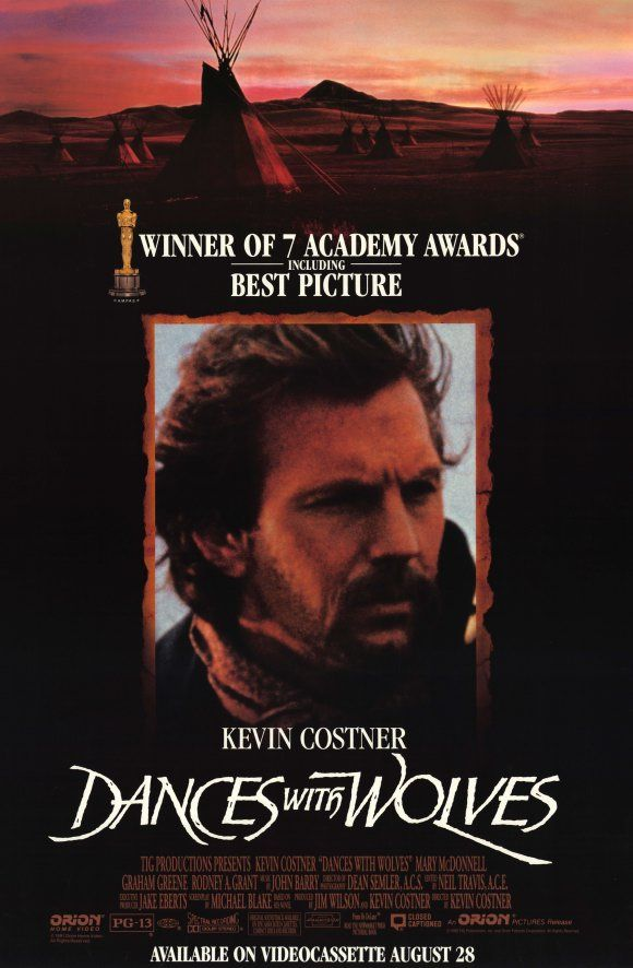 """Dances With Wolves"" (1990) Possibly the best movie Costner made. Immensely well done with a great supporting cast. Very powerful movie."