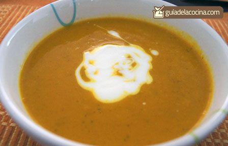 Sopa India de zanahoria