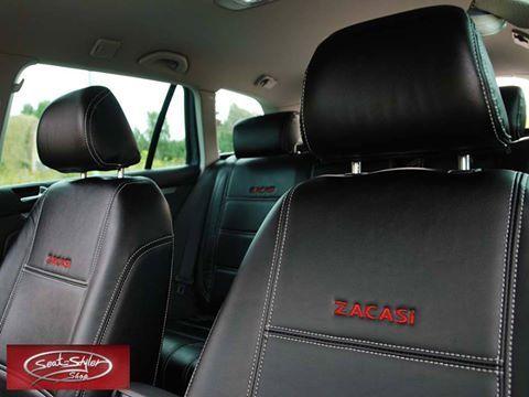 #manufacturer #ZACASi #red #logo #black #leather #seatcovers #AUDI #BMW #MINI #VW #MERCEDES