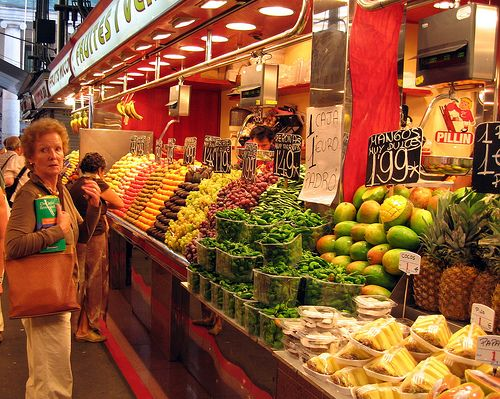 La Boqueria. Click here for top 15 tourist attractions in Barcelona