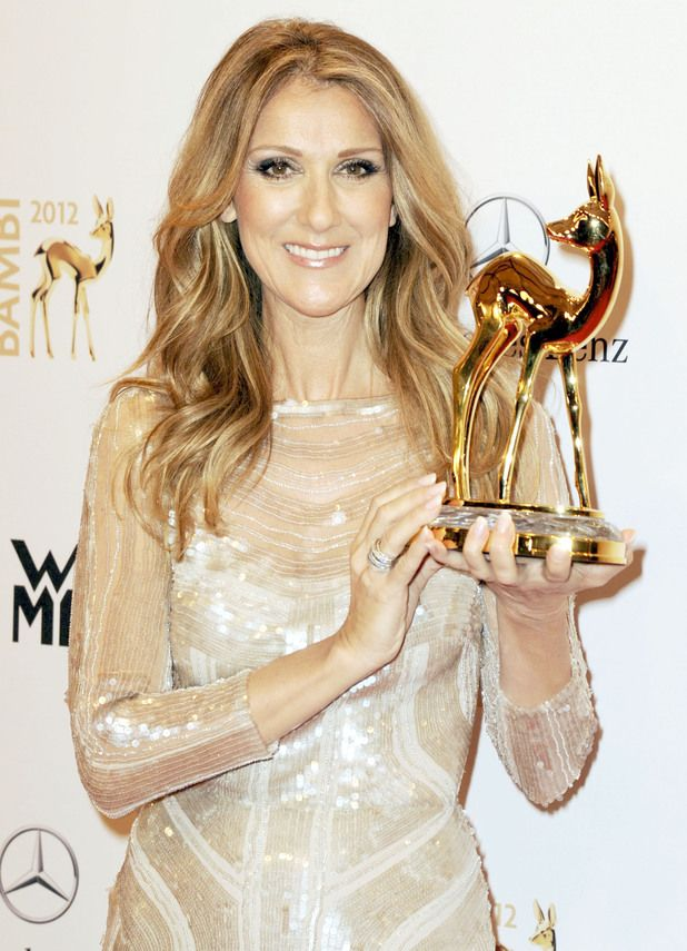 Celine Dion during the Bambi Awards at the National Theatre Germany.