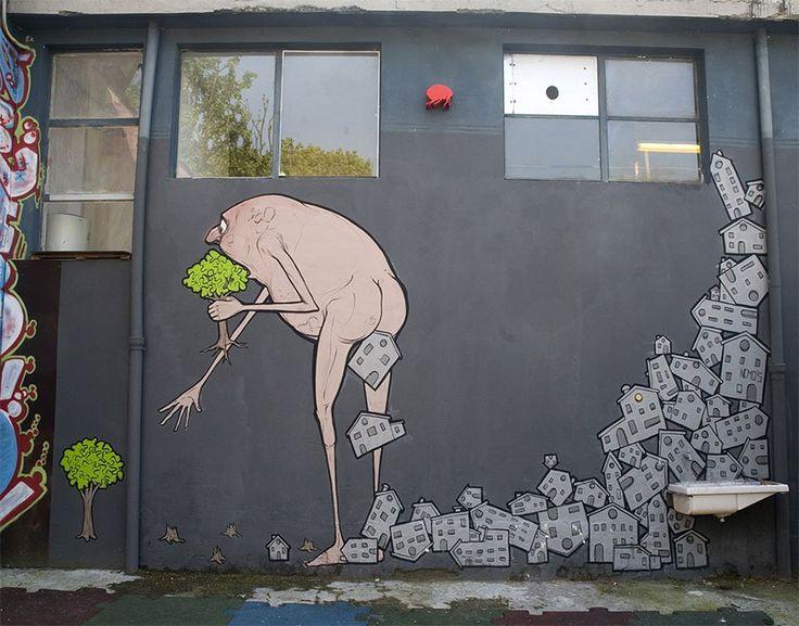 Best Street Art Urban Art Wall Art Public Art Images On - Artist paints incredible seaside murals balanced on surfboard