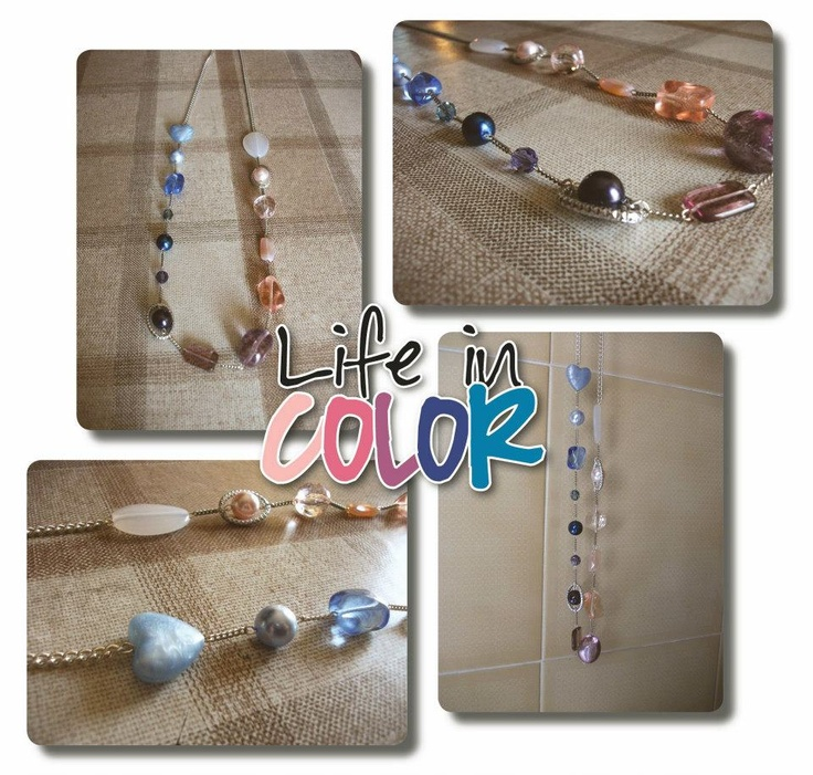 """""""Life in Color"""" necklace :)"""